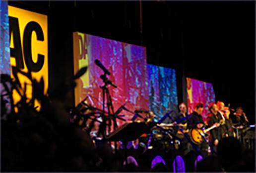 Musiker auf der Bühne beim ADAC Ball 10
