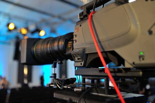 Professionelle Kamera in Nahaufnahme als Dry Hire