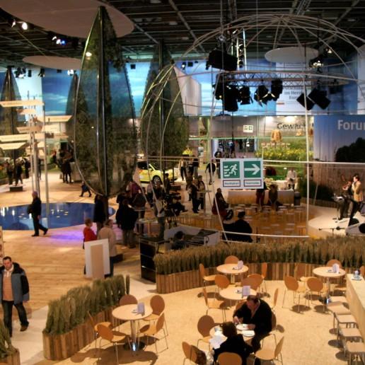 Messehalle auf der Internationalen Grünen Woche in Berlin