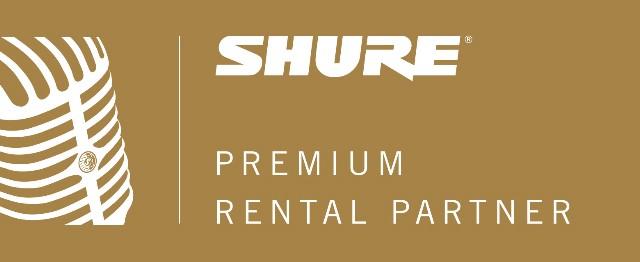 SHURE Premium Rental Partner Logo
